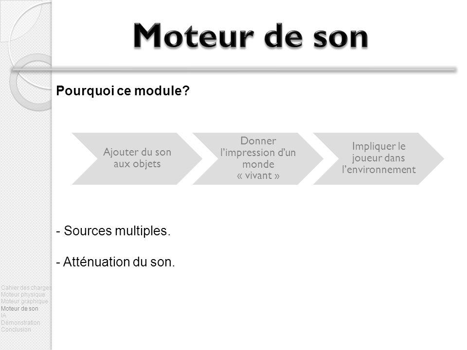 Moteur de son Pourquoi ce module Sources multiples.