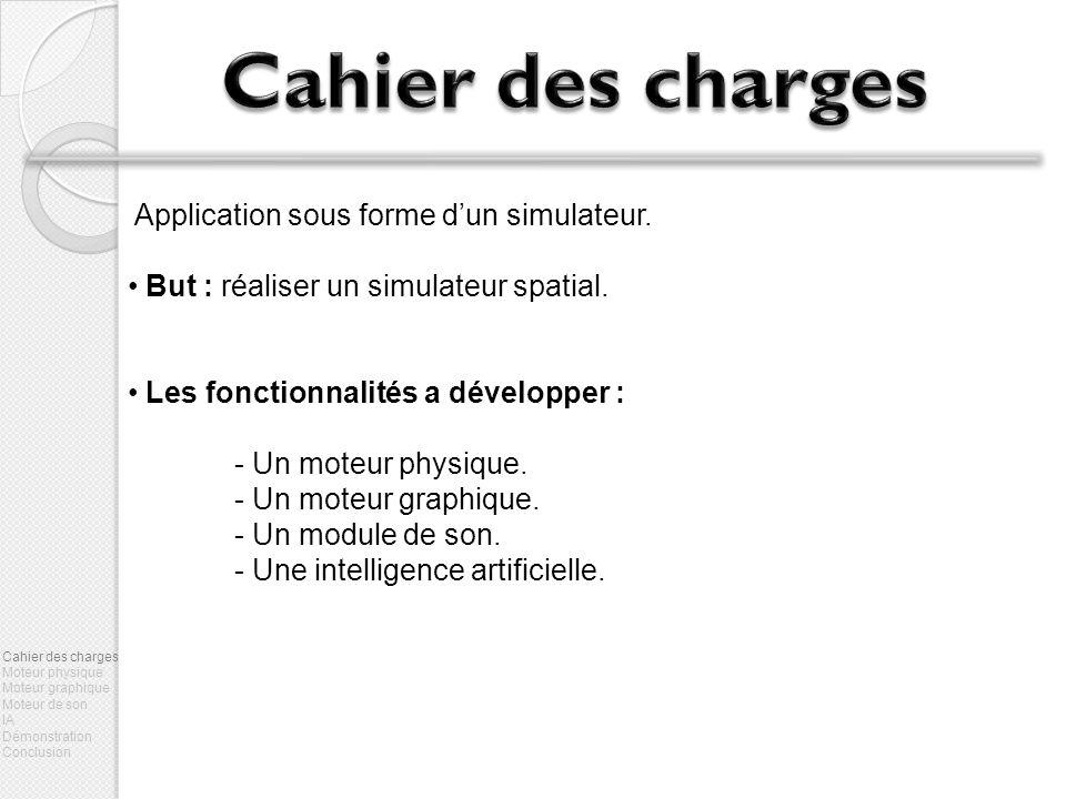 Cahier des charges Application sous forme d'un simulateur.