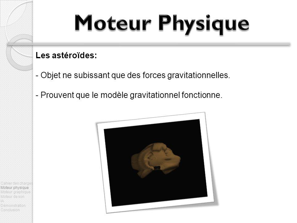 Moteur Physique Les astéroïdes: