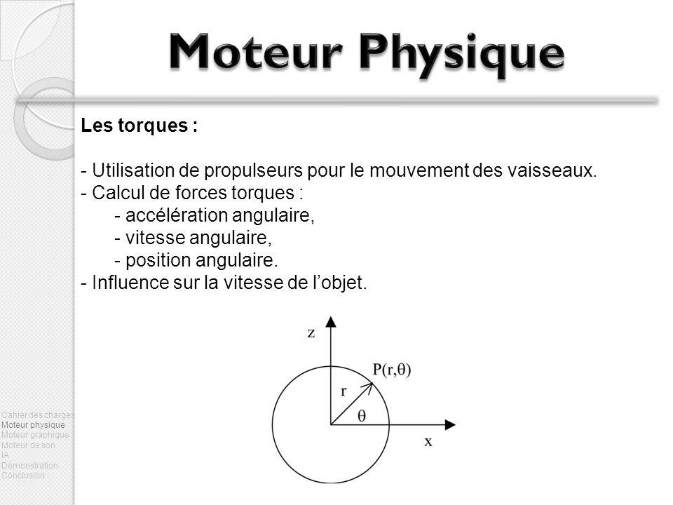 Moteur Physique Les torques :