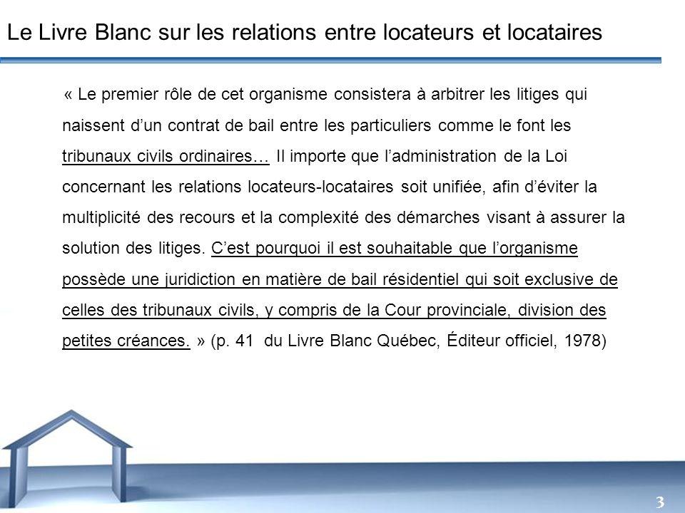 Le Livre Blanc sur les relations entre locateurs et locataires