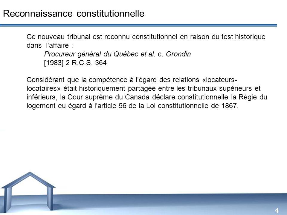 Reconnaissance constitutionnelle