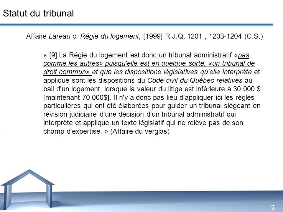 Statut du tribunal