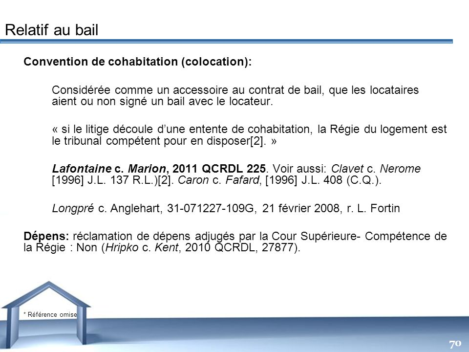 Relatif au bail Convention de cohabitation (colocation):