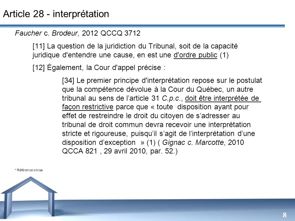 Article 28 - interprétation