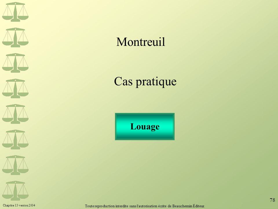 Montreuil Cas pratique Louage