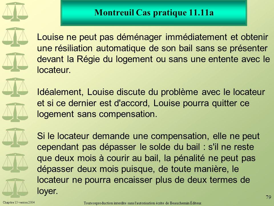 Montreuil Cas pratique 11.11a