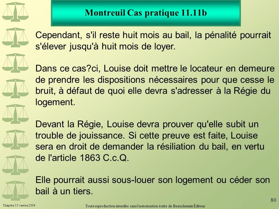 Montreuil Cas pratique 11.11b