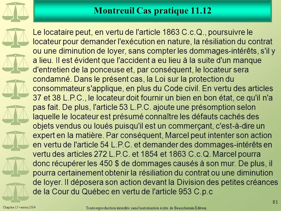 Montreuil Cas pratique 11.12