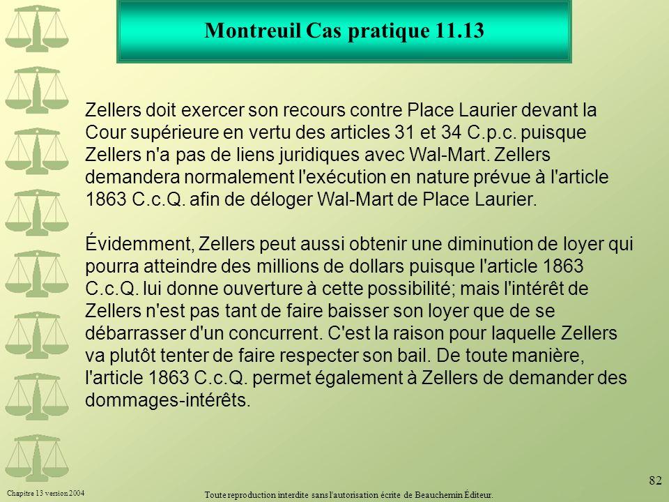 Montreuil Cas pratique 11.13
