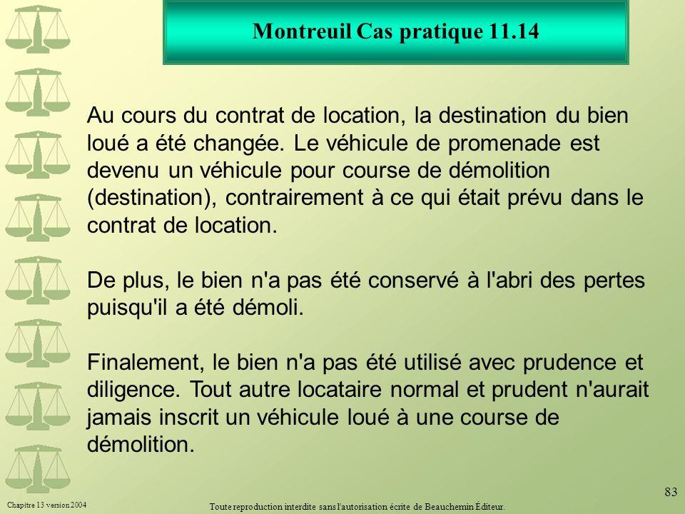 Montreuil Cas pratique 11.14