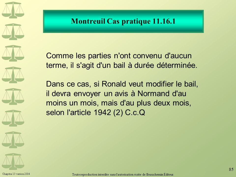 Montreuil Cas pratique 11.16.1