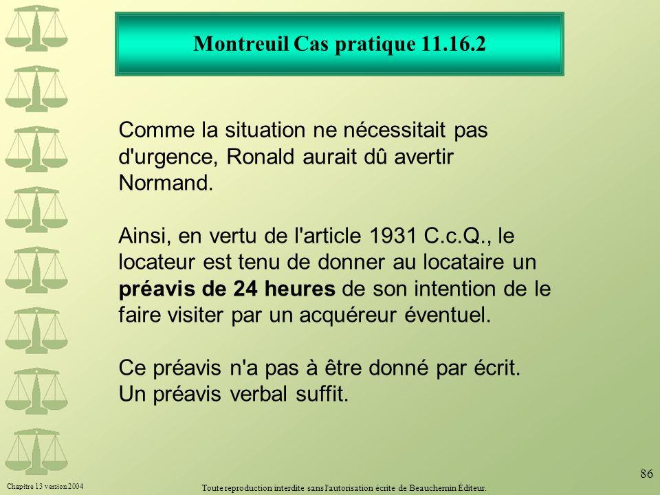 Montreuil Cas pratique 11.16.2