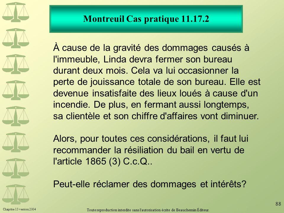 Montreuil Cas pratique 11.17.2