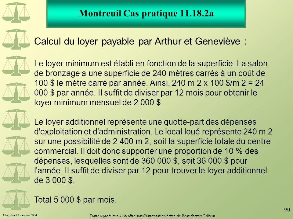 Montreuil Cas pratique 11.18.2a