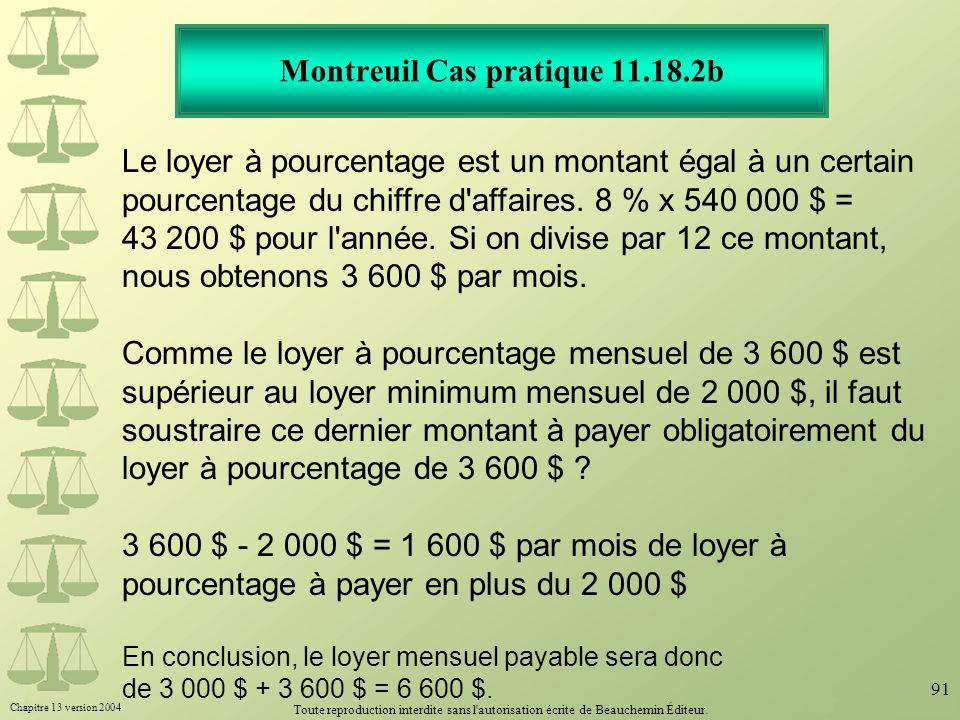 Montreuil Cas pratique 11.18.2b