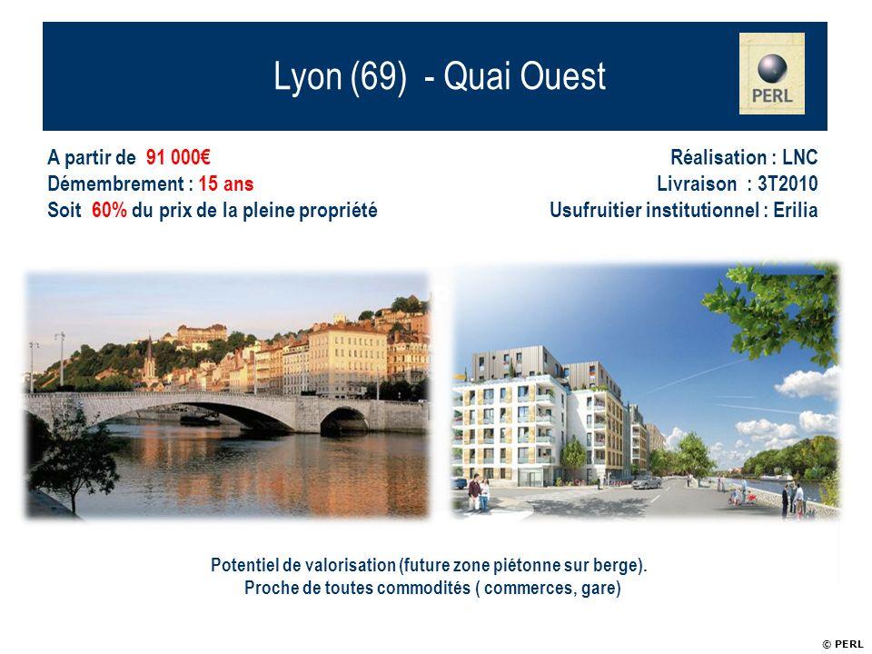 Lyon (69) - Quai Ouest 18 appartements PERL de standing
