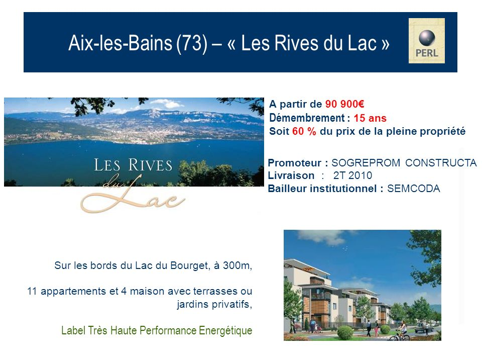 Aix-les-Bains (73) – « Les Rives du Lac »