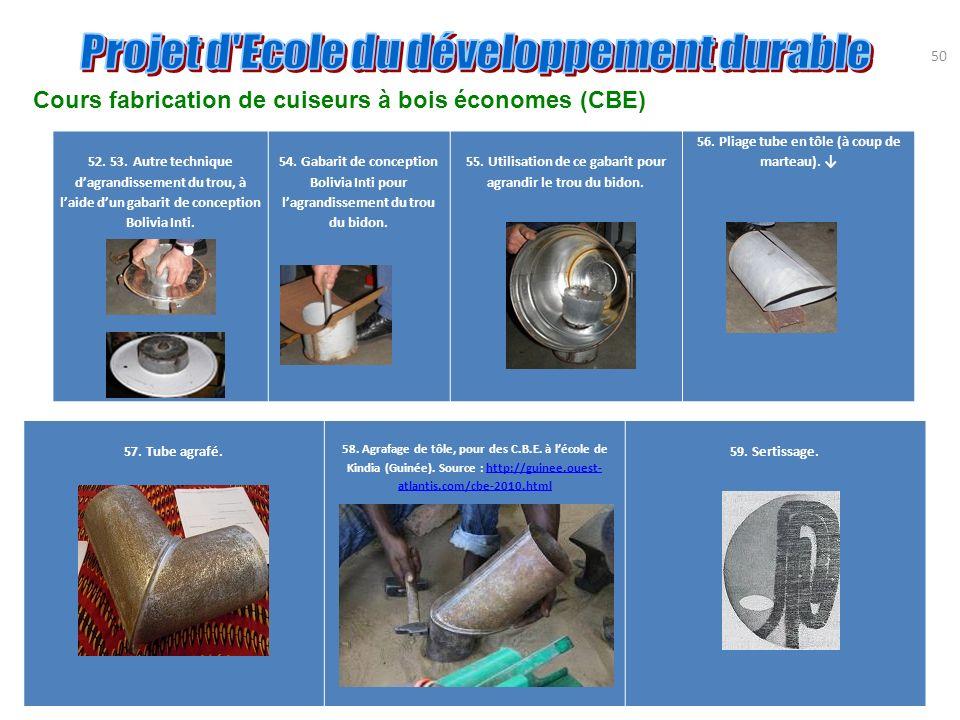 Cours fabrication de cuiseurs à bois économes (CBE)