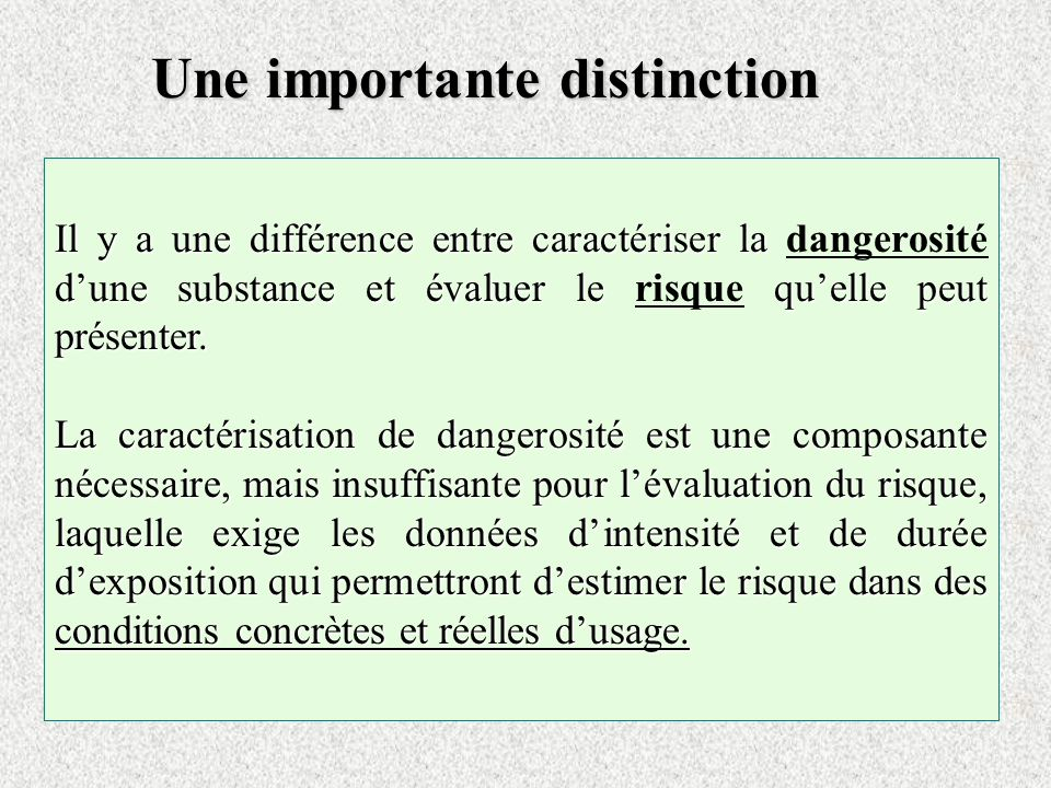 Une importante distinction