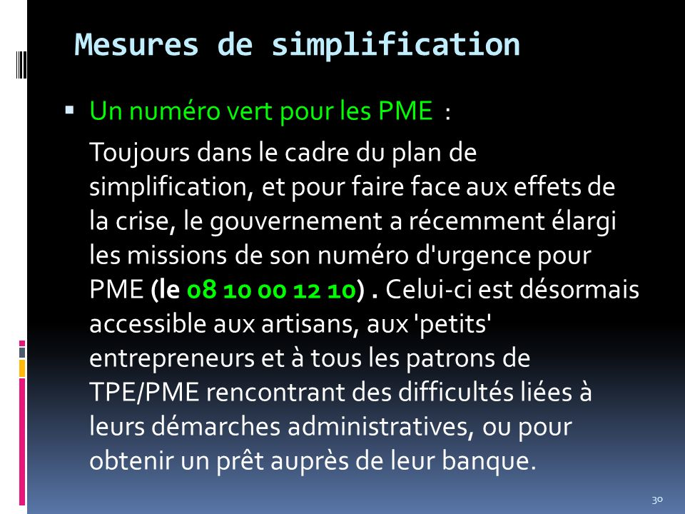 Mesures de simplification