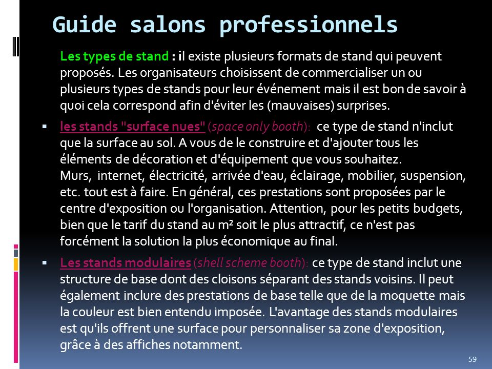 Guide salons professionnels