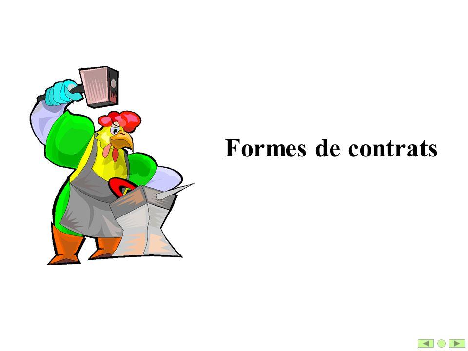 Formes de contrats