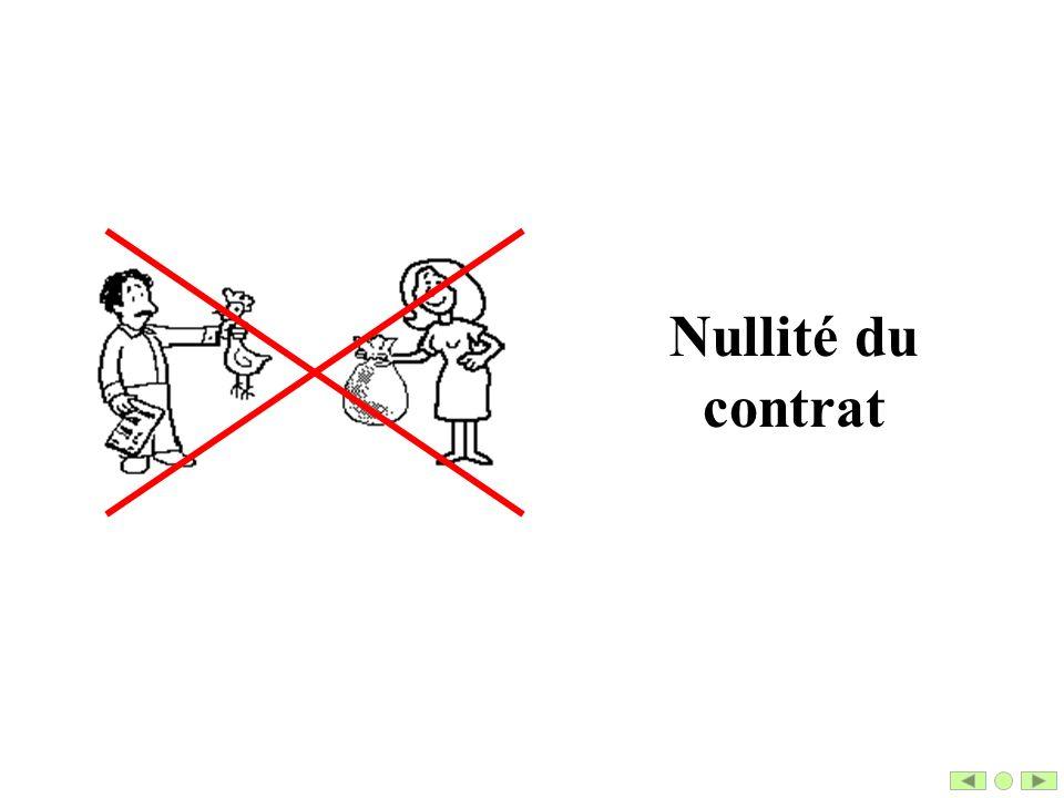 Nullité du contrat