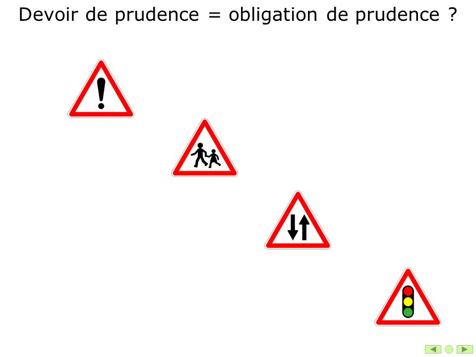 Devoir de prudence = obligation de prudence