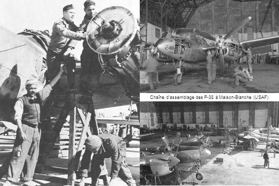 Chaîne d'assemblage des P-38 à Maison-Blanche (USAF)