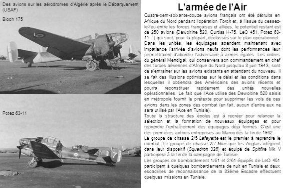 Des avions sur les aérodromes d'Algérie après le Débarquement (USAF)