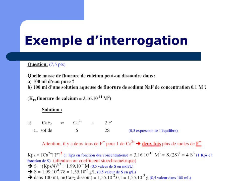 Exemple d'interrogation