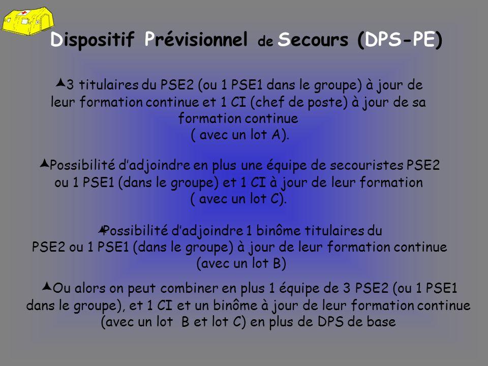 Dispositif Prévisionnel de Secours (DPS-PE)