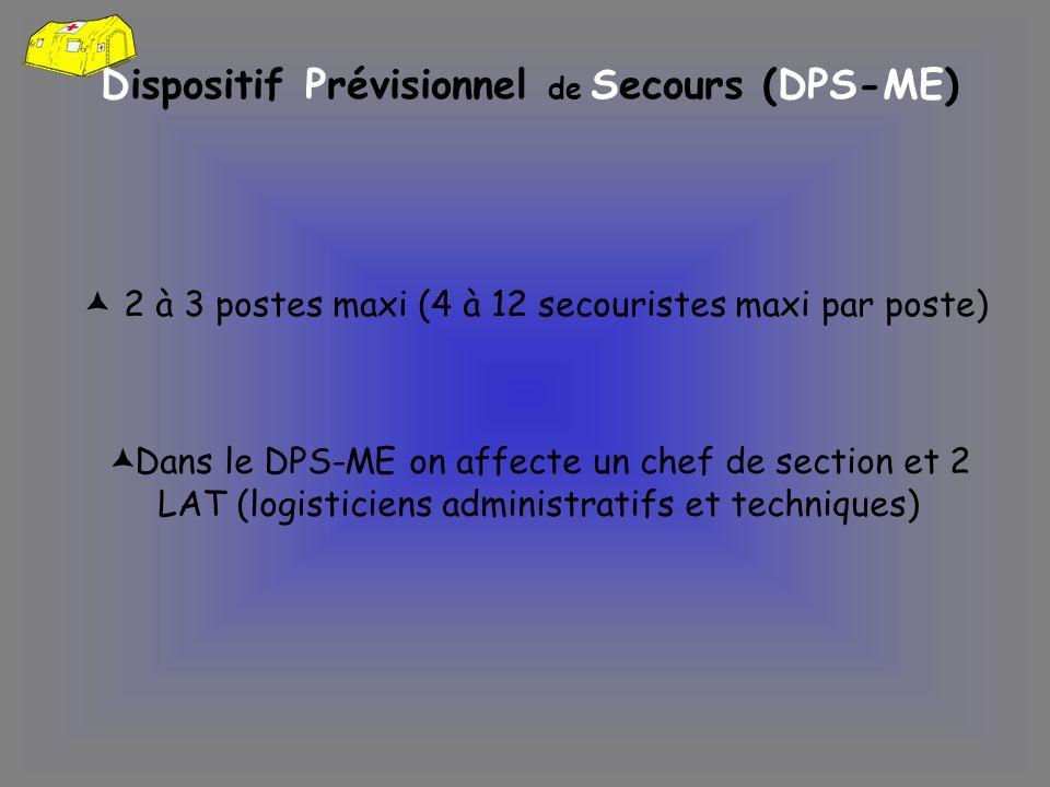 Dispositif Prévisionnel de Secours (DPS-ME)