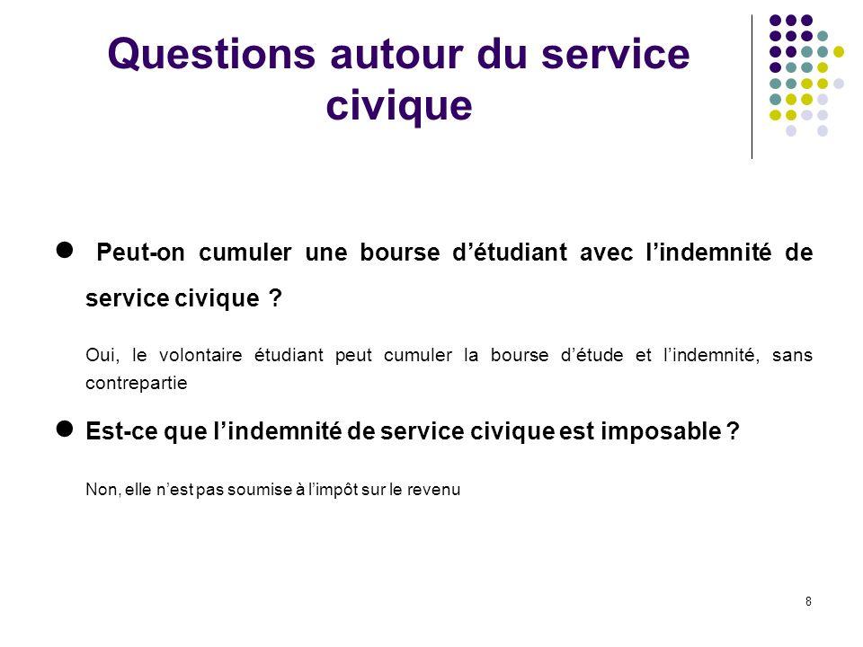 Questions autour du service civique