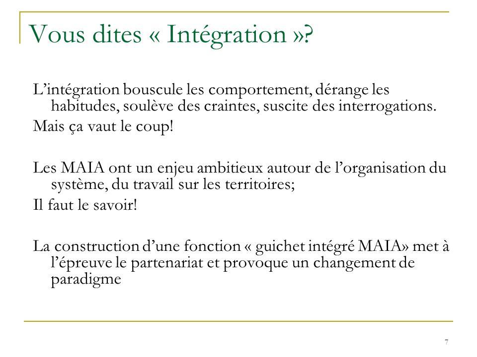 Vous dites « Intégration »