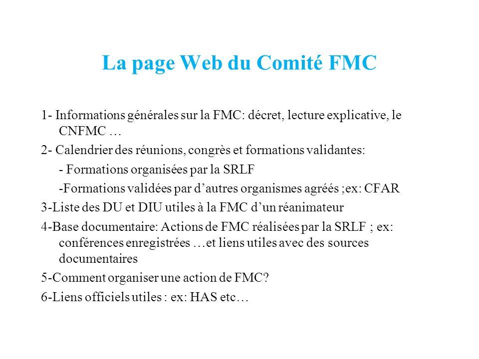 La page Web du Comité FMC