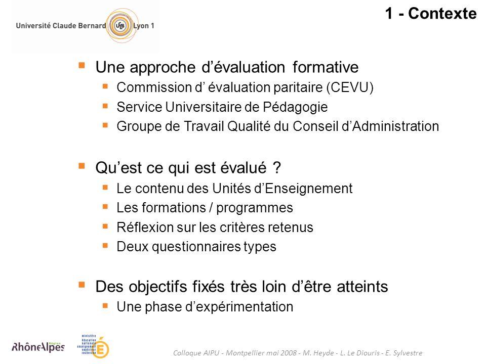 Une approche d'évaluation formative
