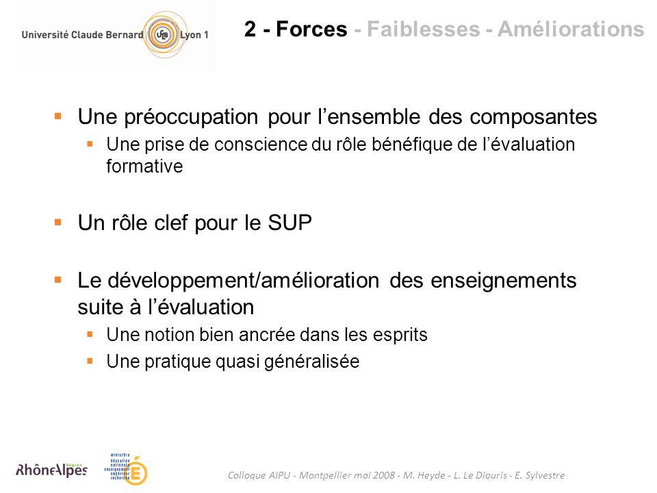 2 - Forces - Faiblesses - Améliorations