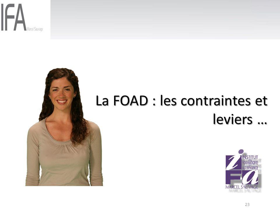 La FOAD : les contraintes et leviers …