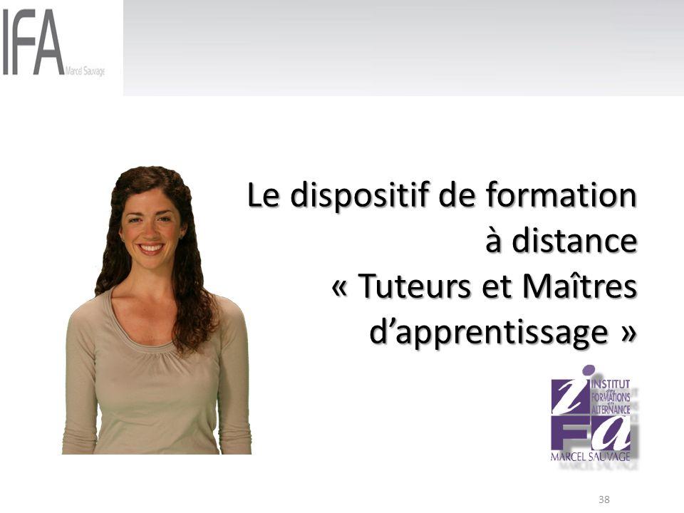Le dispositif de formation à distance « Tuteurs et Maîtres d'apprentissage »