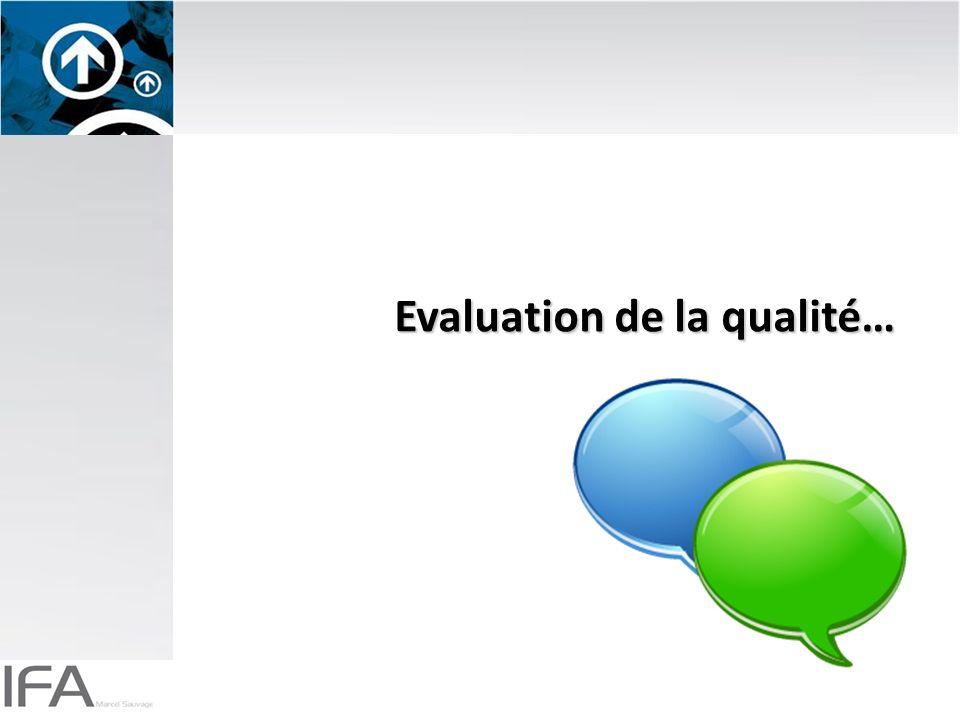 Evaluation de la qualité…