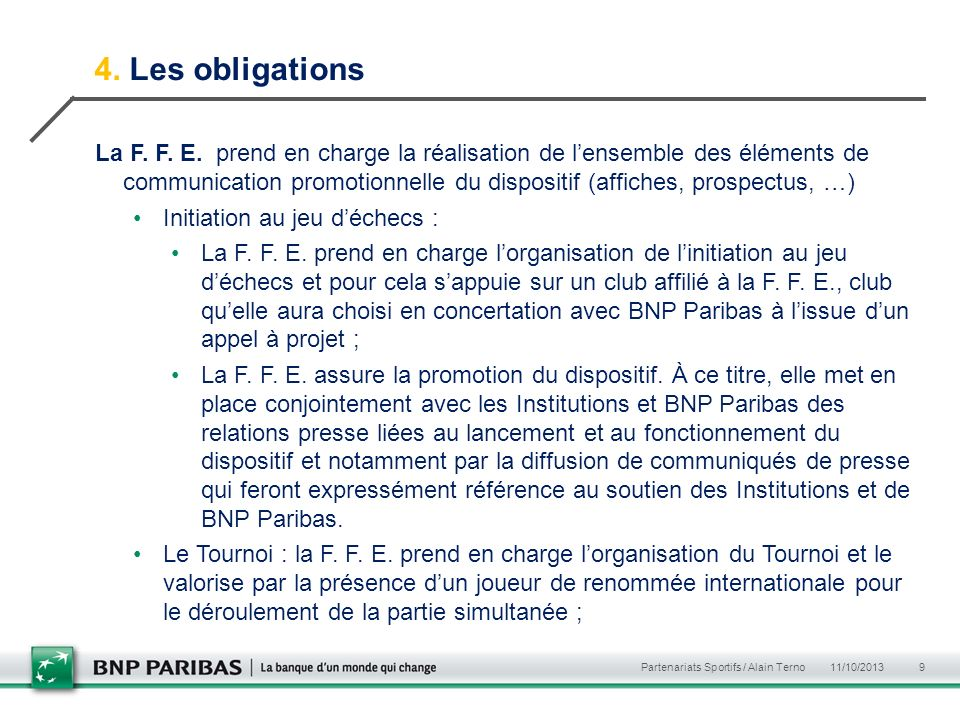 4. Les obligations