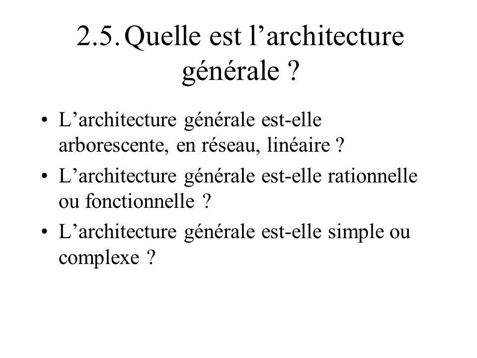 2.5. Quelle est l'architecture générale