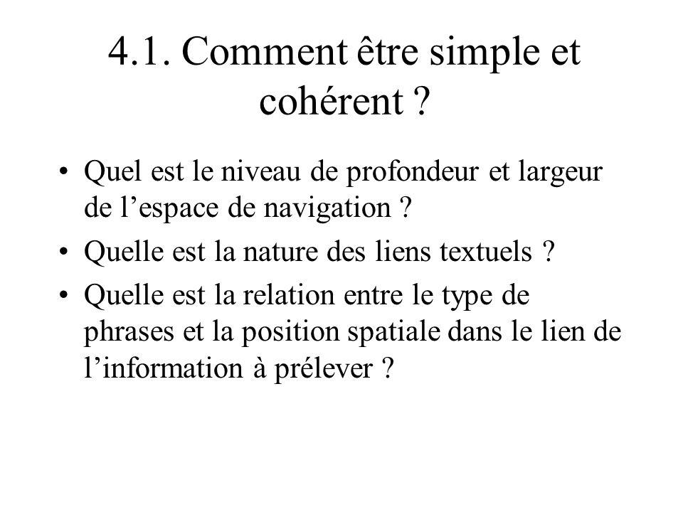 4.1. Comment être simple et cohérent