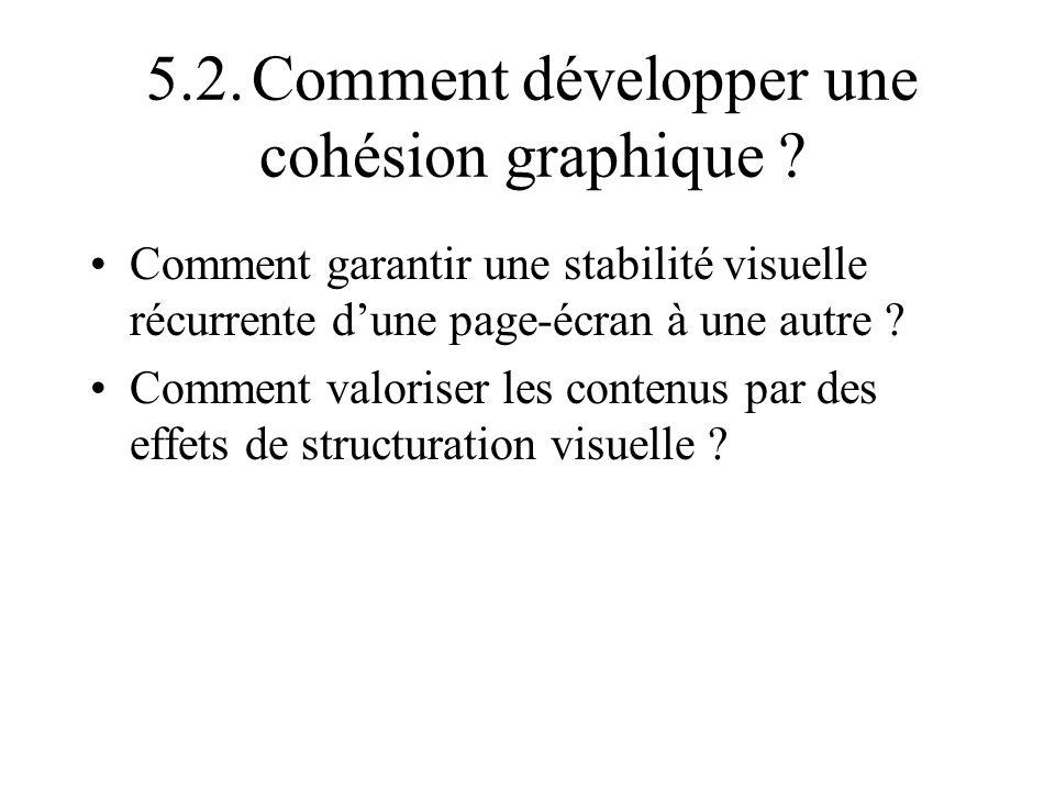 5.2. Comment développer une cohésion graphique