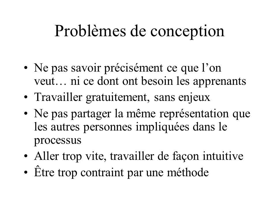 Problèmes de conception