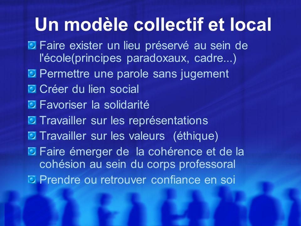 Un modèle collectif et local