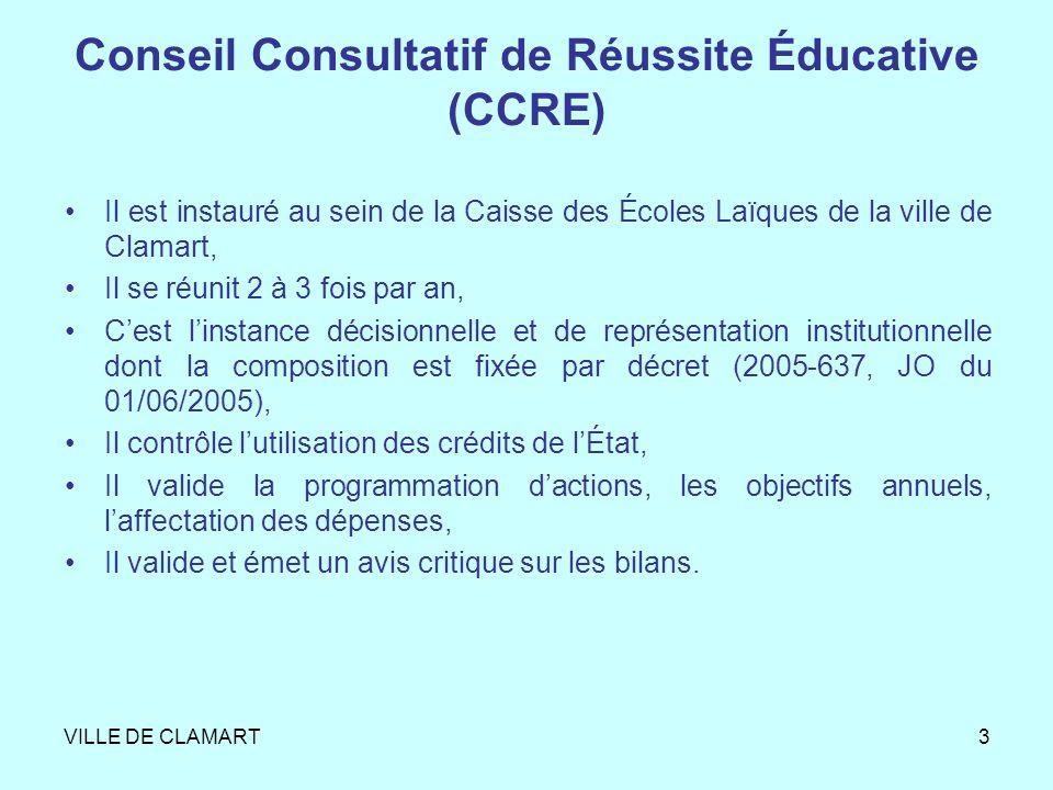 Conseil Consultatif de Réussite Éducative (CCRE)