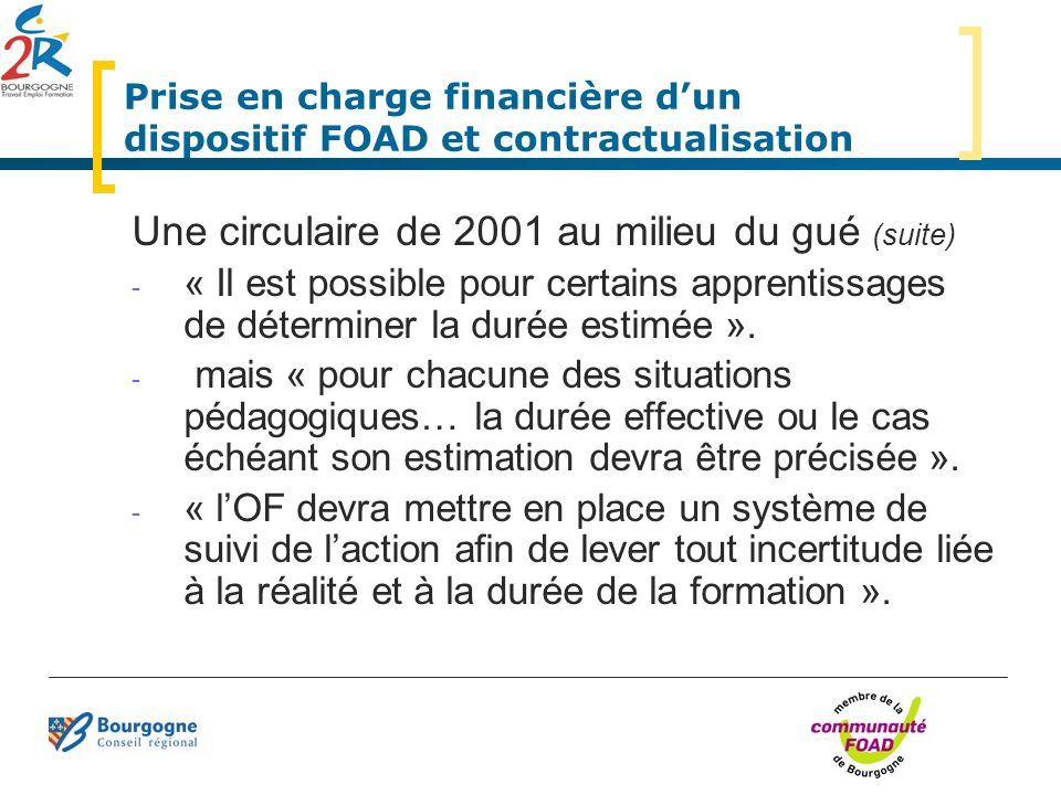 Prise en charge financière d'un dispositif FOAD et contractualisation